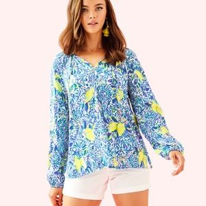 Lilly Pulitzer Willa Tunic Top in Zest for Life 🍋